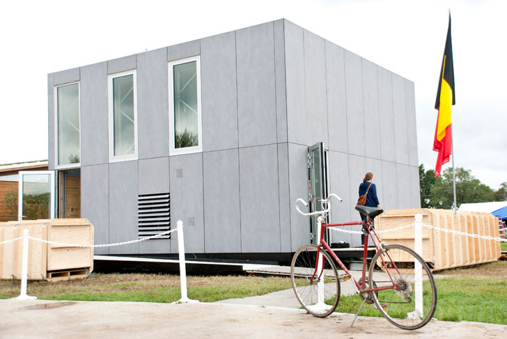 Team Belgium\'s E-Cube House is a DIY Modular Kit-Home at the 2011 ...