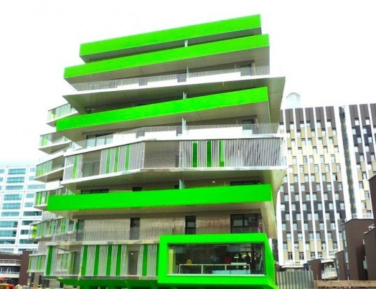 green building, council flats, hamonic+masson, paris, villiot rapper, france, daylighting, energy efficiency, paris climate plan, serpentine terraces, shade, green building, eco-design, sustainable design, green design
