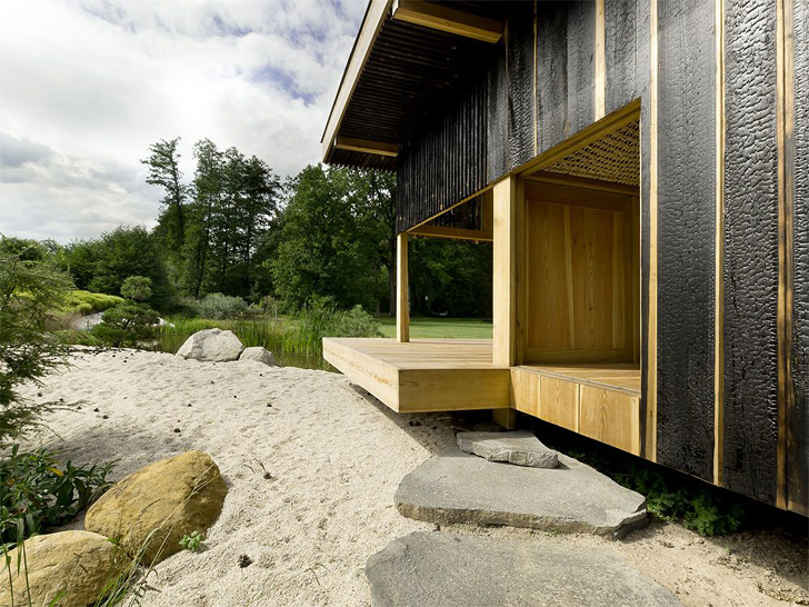 a1 architects black teahouse inhabitat green design innovation architecture green building. Black Bedroom Furniture Sets. Home Design Ideas