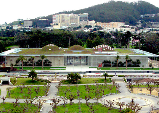 Renzo Piano, US Green Building Council, LEED Platinum, Double Platinum, CA Academy of Sciences, earthquake, San Francisco, California, green building, green roof, sustainable design, eco-design, green design, energy star, water consumption