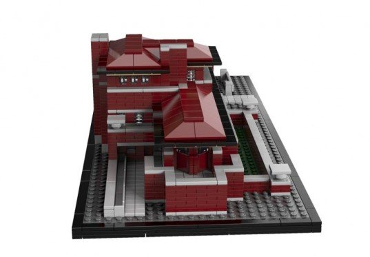 LEGO, Robie House, Frank Lloyd Wright, LEGO Architecture Series, green design, eco design, sustainable design