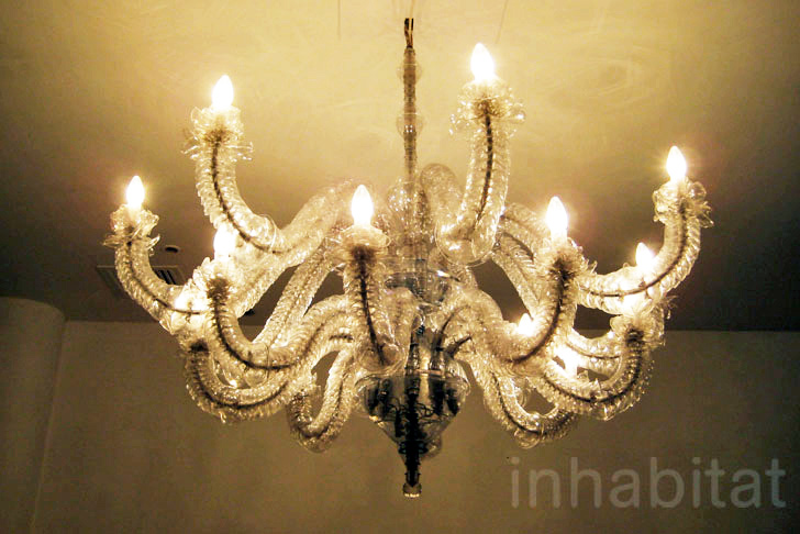 Gorgeous recycled pet bottle chandelier brightens up the london design mozeypictures Image collections