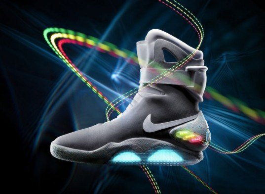 back to the future, shoes, back to the future sneakers, back to the future shoes, marty mcfly, nike shoes, nike limited edition, michael j fox, michael j fox foundation