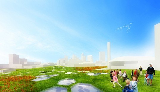 green design, eco design, sustainable design, Organic SCapes and Architecture, Campus International School, Cleveland State University, honeycomb design, OS+A