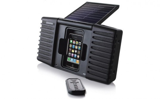 soulra, solar powered speakers, solar powered ipod speaker, solar power, renewable energy, green gadgets, green technology, sustainable gadgets, photovoltaic panels, solar panels, green design, sustainable design, clean tech