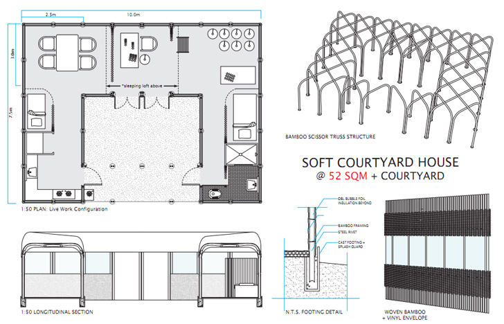 MIT's $1000 House Challenge Promotes Ground Breaking Designs ... on chinese home design, courtyard floor plans, chinese courtyard house plan, chinese house interior, cement house plans, chinese house doors, chinese house drawings, 25 x 40 shop plans, chinese house roof, concrete block home plans, chinese house paintings,