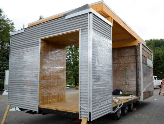 green design, eco design, sustainable design, Solar Decathlon, Washington D.C., off the grid, photovoltaic roof, solar energy, renewable resources, Asheville, North Carolina, Appalachian State University, The Great Porch, Solar Homestead, Trombe Wall, modular home, bifacial photovoltaic panels