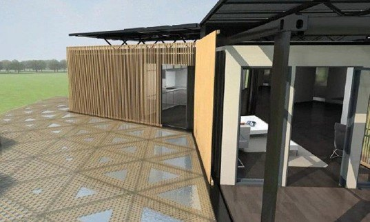 green design, eco design, sustainable design, Solar Decathlon, Washington D.C., Team China, Cargotecture, recycled shipping containers, Y Container, Shanghai, Tongji University, off the grid, photovoltaic roof, solar energy, renewable resources, radiant flooring