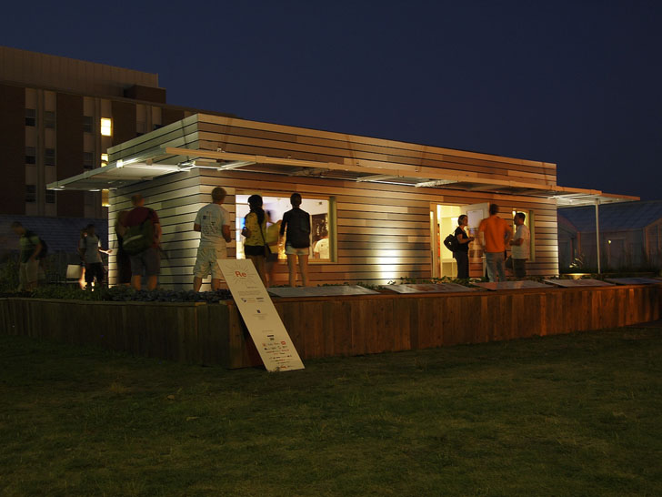 Re_home, by the University of Illinois at Urbana- Champaign, is an easily transported home that is perfect for disaster relief conditions. The eco-friendly and comfortable mobile home will offer flexible living spaces for a family who has lost their due