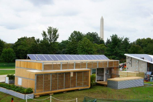 Solar Decathlon 2011, Team Florida in front of the Washington Monument, solar decathlon houses, solar power, renewable energy, washington dc mall, solar panels, renewable energy