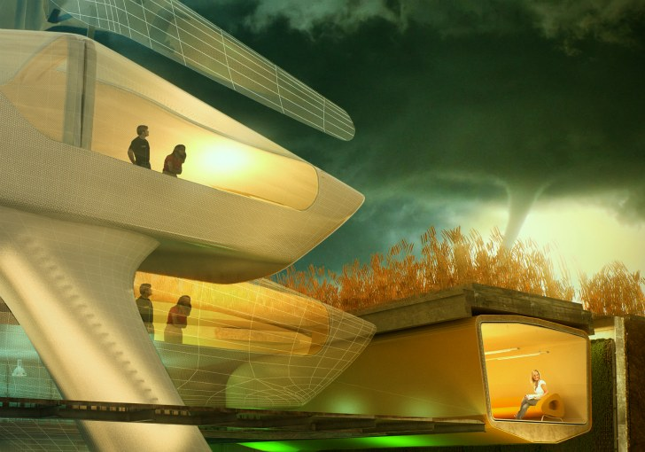 Futuristic Tornado-Proof Home Sinks into the Ground at the First ...