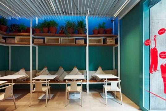 green design, eco design, sustainable design, FASTViNIC, Alfons Tost, Catalonia, LEED Certified restaurant, sustainable materials, sustainable food, Barcelona, recycled materials