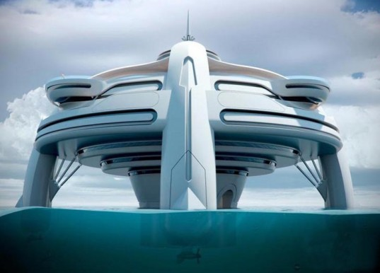 green design, eco design, sustainable design, Yacht Island, floating artificial island, Project Utopia, BMT Nigel Gee, glass canopy