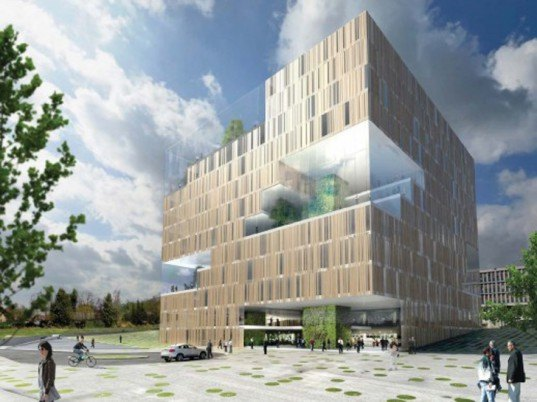architecture, sustainable building, green design, eco design, sustainable design, oslo, okern, a-lab, eco-cube, green office buildings, green architecture