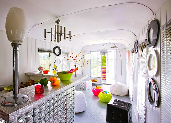 Forsaken 60's Trailer Renovated into a Happy Hippy House in France