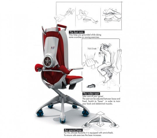 stand-work method, Fit@Work Chair, Benjamin Cselley, office chairs, eco office chairs, exercise chairs, chairs for exercising, exercising in the office, workout in the office, workout chair
