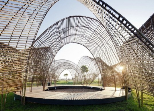 Airy Forest Pavilion In Taiwan Is Made From A Series Of
