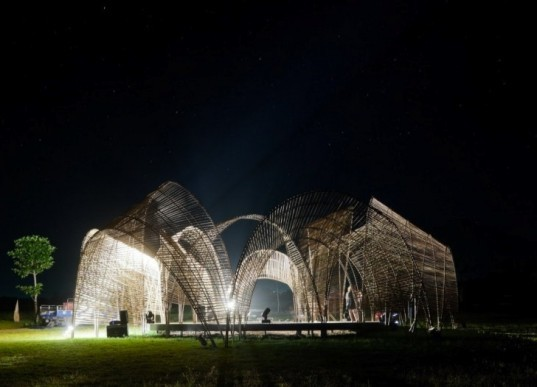 Parabolic arches, forest pavilion, taiwan, Amis tribe, nArchitects, green design, eco-design, sustainable design, eco-architecture, green materials, bamboo, Hualien County, Da Wong Da Fu Forest