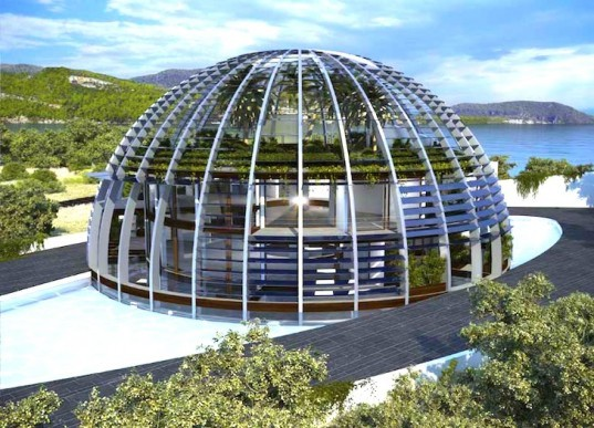 Eco-House, Luis de Garrido, green design, sustainable design, eco-design, Turkey, geothermal, photovoltaic energy, rainwater harvest, energy efficiency, solar gain, natural heating, natural lighting, natural ventilation, tilted louvers, biological wastewater treatment, off-grid, self-sufficient