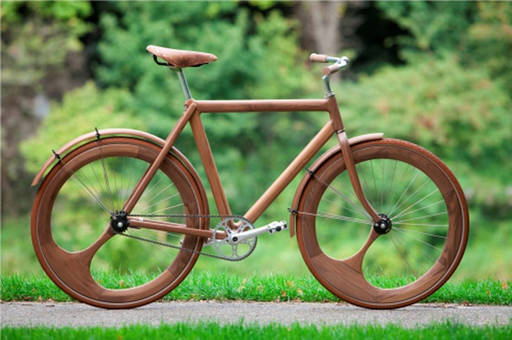 Jan Gunnewegu0027s All Wood Bicycle Comes With Matching Shades   Inhabitat    Green Design, Innovation, Architecture, Green Building