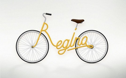 Juri Zaech, Typography Bikes, name bikes, cursive bikes, bicycle design, green transportation, alternative transportation