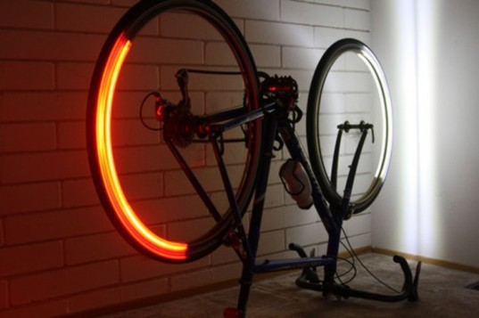 Revolights, bike lights, bike lighting, LEDs, LED bike lighitng, lighting and sighting, bike visibility, green transportation, alternative transportation, green lighting design, green bicycle design, Kent Frankovich, Adam Pettler, Jim Houk