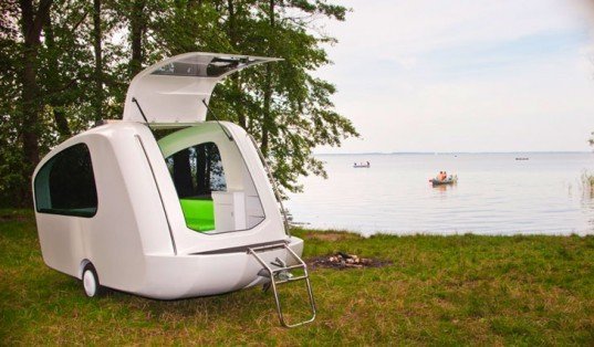 sealander aquatic trailer morphs from camper to boat for. Black Bedroom Furniture Sets. Home Design Ideas