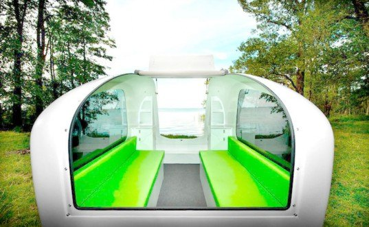 Sealander camper boat, Sealander Aquatic Trailer, electric boat, electric vehicle, green automotive design, alternative transportation, green transportation