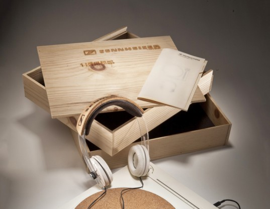 matthew lim, eco-friendly, eco design, turntables, headphones, electronics, green design, green electronics, cork,sennheiser