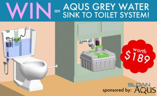 win this, free stuff, giveaways, AQUS by Sloan, AQUS grey water, grey water reclamation, clean water, home grey water , legal grey water, illegel grey water, reclaiming domestic water, water reuse, green water, eco watre, water saving device, grey water for toilet, grey water use, Sloan water saving, Sloan Valve Company Aqus, home grey water, grey water system, how to use grey water, water reclimation for the home, water bill, environmental water technology