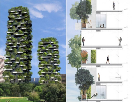 Bosco Verticale, green tower, plant tower, living tower, vertical forest, world's first vertical forest, eco architecture, green architecture, living buildings, Aeolian energy, photovoltaic energy, Stefano Boeri Architetti, Stefano Boeri Architects, Stefano Boeri, italian architecture, italy architecture, milan architecture
