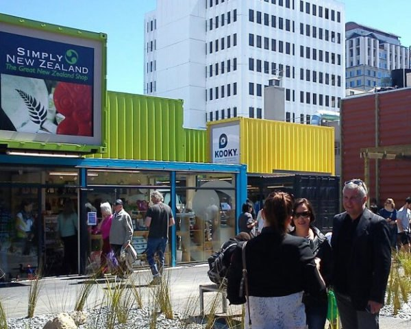 Re:START Shipping Container Mall Opens In Christchurch but