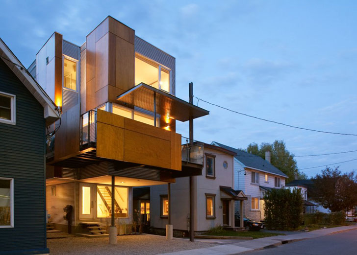 Innovative Front To Back Infill House Creates Two Separate