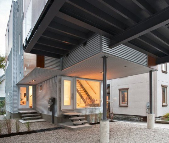 green design, eco design, sustainable design, Ottawa, Canada, infill, dual homes, Front to back infill, Colizza Bruni, Green architecture, sustainable neighborhood
