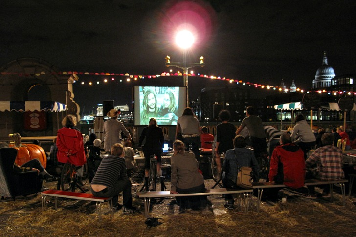 Magnificent Revolution's Pop Up Cycle-In Cinema Runs on Pedal Power