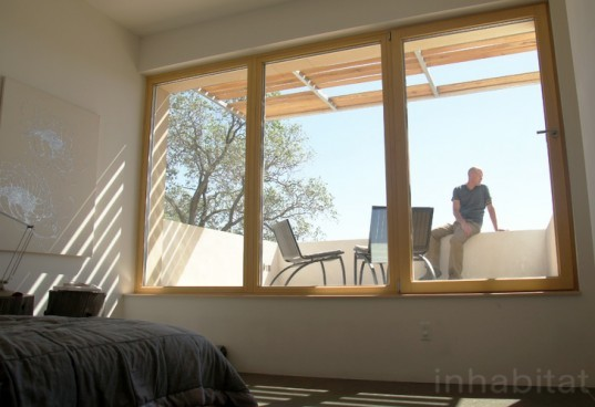 adobe modernism, eco home design, green home design, lowest energy home, mo+s+a, most energy efficient home, New Mexico green home, passive house, passive solar, passivhaus, PHIUS president, Santa Fe green home, thermal bridging, tilt windows, United sates Passivhaus, zero energy home