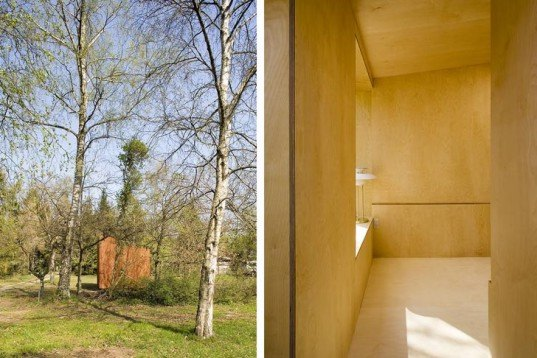Fantastic Prefab Read Nest Is A Tiny Wooden Cube Perfect