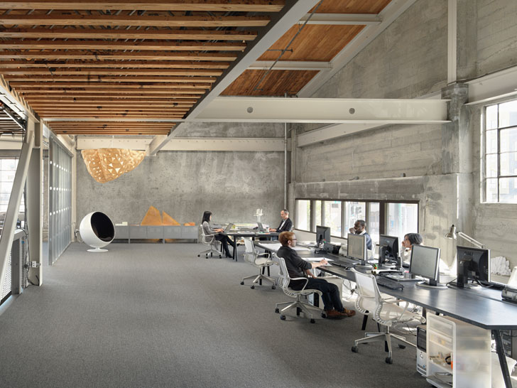 IwamotoScott Transforms 1940s Warehouse Into A Gorgeous Modern Office Space