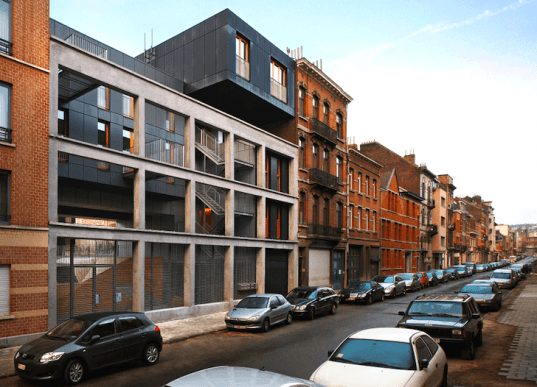 MDW Architecture, Brussels, Belgium, green design, sustainable design, eco-design, green roof, daylighting, natural materials, urban spaces, Le Lorraine, energy efficiency,