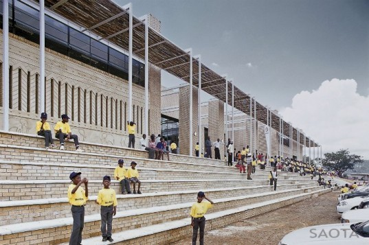 Mankgaile Primary School, SAOTA, primary school, south africa, shade, community centre, green design