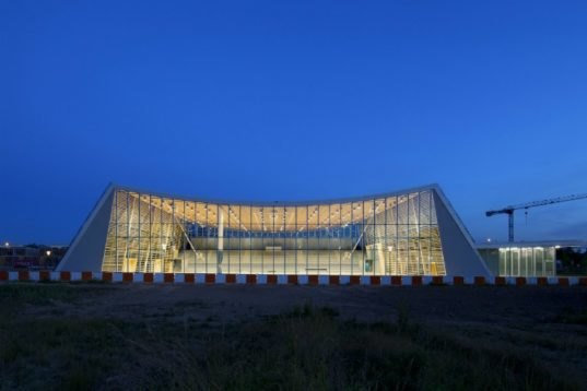 monconseil sports hall is a gorgeous naturally daylit