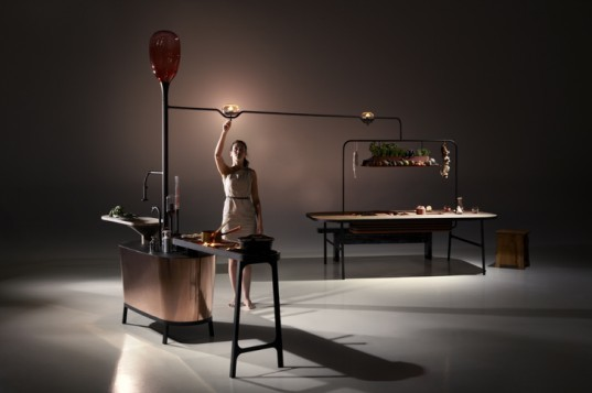 green design, eco design, sustainable design, green products, dutch design week, philips, microbial home, bacteria, bacteria fueled lamps, compost, methane power, methane powered home, larder,