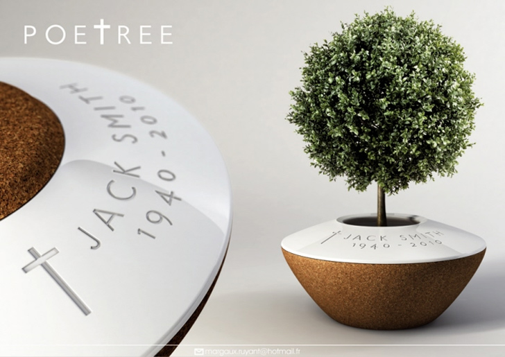 Poetree Burial Planter is an Eco Memorial That Honors the Cycle of Life