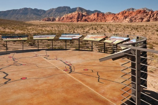 Red Rock Visitor Canyon Center, Line and Space, las vegas, national conservation area, visitor center, desert architecture