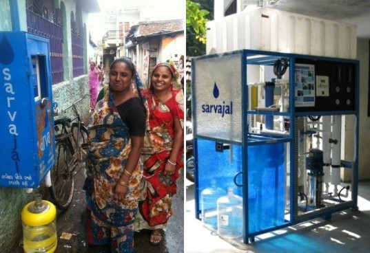 Sarvajal Water ATMs, sarvajal, water filtration, clean water, india, water dispensers, clean water franchises