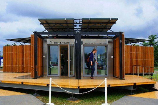 Team China Fuses High Low Tech With The Y Container Solar