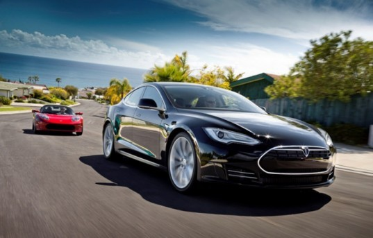 green design, eco design, sustainable design, Tesla Motors, Panasonic Corporation, Tesla Model S, electric vehicle, lithium-ion battery