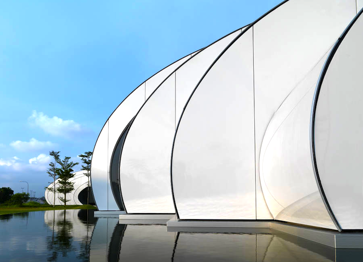 Awesome Worm Like Pod Pavilion In Kuala Lumpur Is Inspired By Water  Droplets | Inhabitat   Green Design, Innovation, Architecture, Green  Building Good Ideas