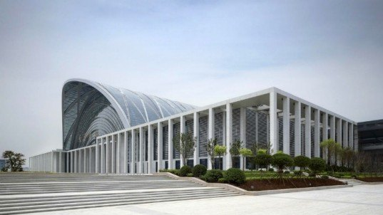 Tianjin West Railway Station, gmp Architekten, high speed rail, train station, china, daylighting