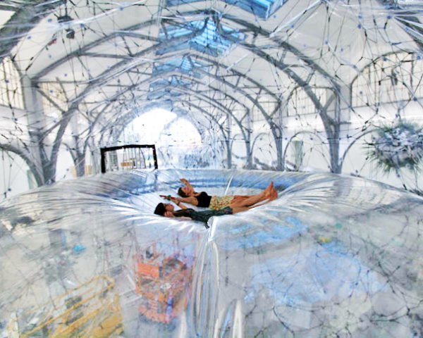 green design, eco design, sustainable design, Berlin, Hamburger Bahnof, Cloud Cities, Tomas Saraceno, geodesic dome, Utopian bubbles, biospheres